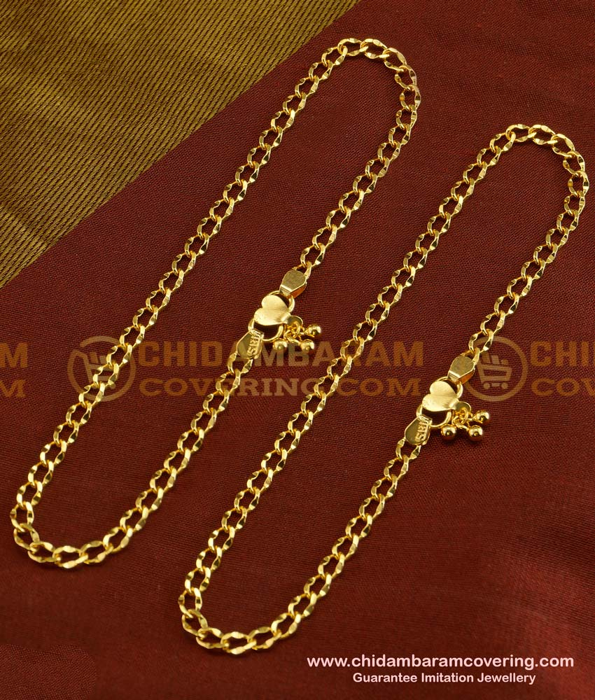 ANK021 - Trendy Indian Daily Wear New Payal Design One Gram Jewellery Online