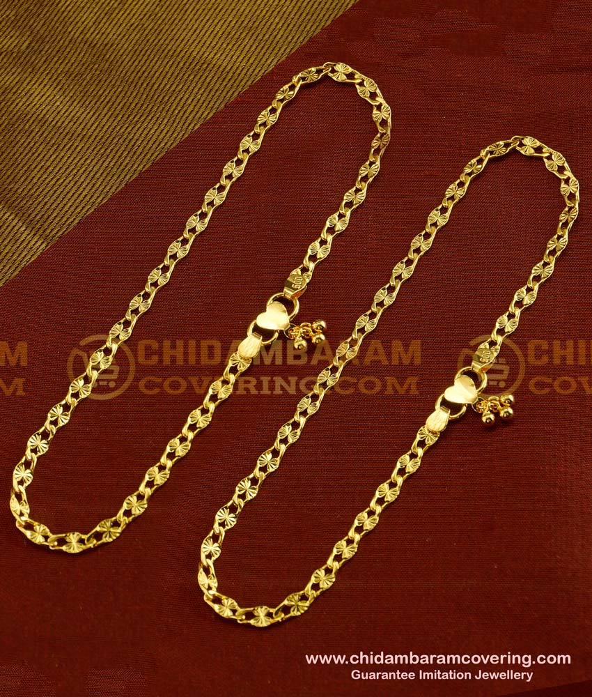 ANK023 - Latest Light Weight Thin Single Line Anklet Design for Girls