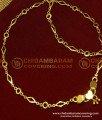 ANK040 - 10.5 Inch Latest Flexible Thin Chain Designer Padasaram Design Anklet for Girl