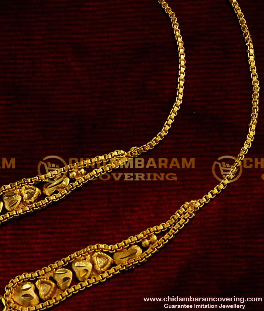 MAT10 - Latest Fancy Suthu Mattal Heartin Design Ear Chain / Martiz / Matilu Chidambaram Gold Covering Online