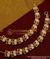 MAT18 - Aiympon Bridal Wear Butterfly Design Mattal/ Stone Ear Chain Model Online