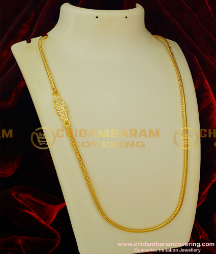 MCHN077 - Gold Impon Mogappu Thali Roll Kodi Chain Design Low Price Impon Jewellery Online