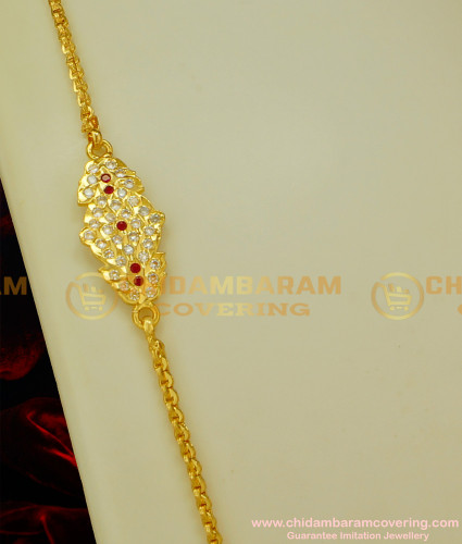 MCHN078 - Traditional Impon Mugappu With Chain Design Buy Online Shopping