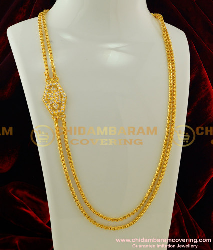 MCHN103 - Traditional Rettai Vadam Gold Design Chain Impon Mugappu Buy Online