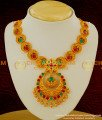 NLC041 – Uncut Stones Design Antique Matte Necklace with Jhumka Earrings Shop Online