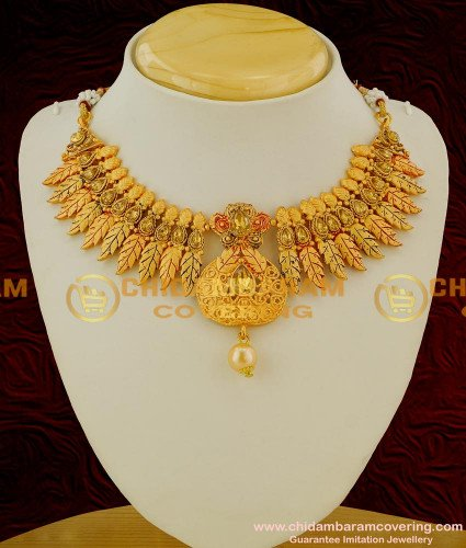 NLC043 - Rose Gold Plated Matte Finish Necklace with Earrings Set Cheap Cost Necklace Online