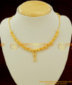 NLC072 - High Look Gold Balls American White Stone Necklace for Simplicity Girls or Womens