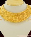 NLC078 – Attractive Gold Plated Bridal Wear Beads Model Choker Necklace With Earing Set Online