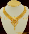 NLC081 - High Fashion Gorgeous Beads and Stone Mango Necklace Design 1 Gm Gold Plated