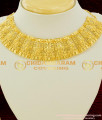 NLC086 - Beautiful Handmade Mini Choker Design with Jhumka Gold Plated Jewelry Online Shopping