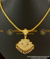 NLC090 - Latest Design White Stones Traditional Attigai Gold Plated Jewellery Online