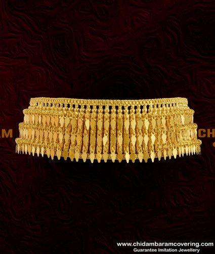 NLC120 - Kerala Gold Inspired Elakkathali Choker Necklace Bridal Jewelry Online
