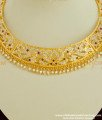 NLC144 - Ever stylish Impon Stone Bridal Choker Necklace Collections Buy Online