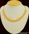 NLC199 - Simple and Light Weight Necklace One Gram Gold Plated Jewelry