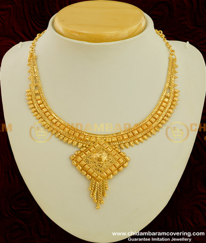 NLC200 - Traditional Design Gold Plated Necklace Indian Bridal Jewelry Online
