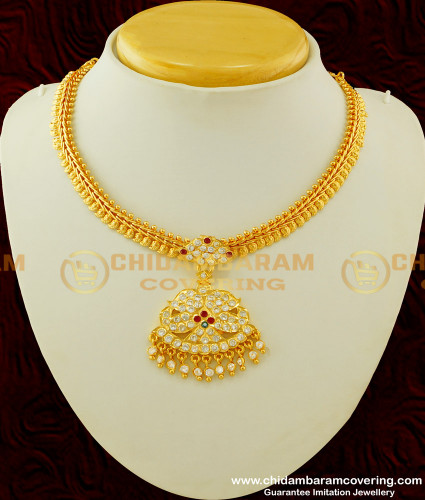 NLC255 - Traditional Five Metal Attigai Collection Micro Plated Impon Jewellery Buy Online