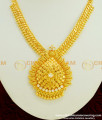 NLC348 - Latest Collection Micro Plated White AD Stone Necklace Designs