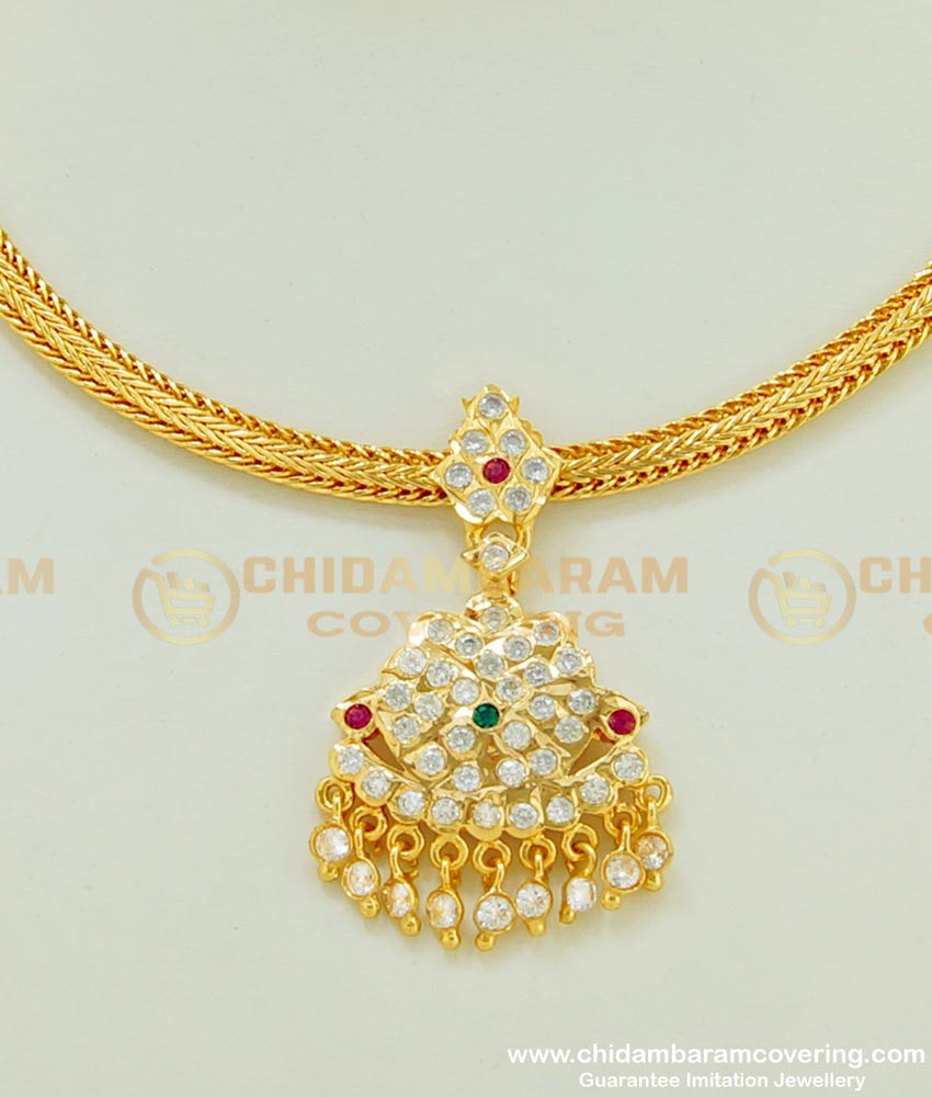 NLC396 - Indian Traditional Jewellery New Design Five Metal Attigai Necklace Online