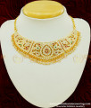 NLC399 - New Arrival Bridal Wear First Quality Impon Multi Stone Choker Necklace for Wedding