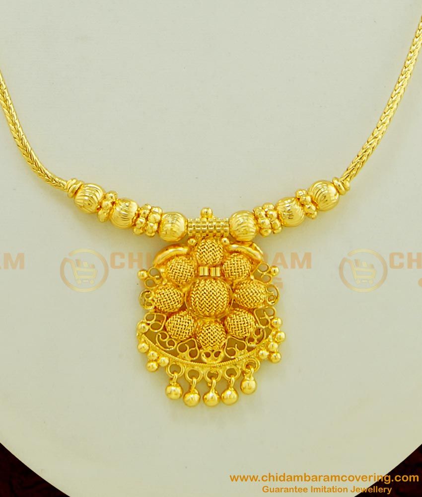 NLC443 - Marriage Bridal Gold Necklace Design Light Weight Short Necklace Online