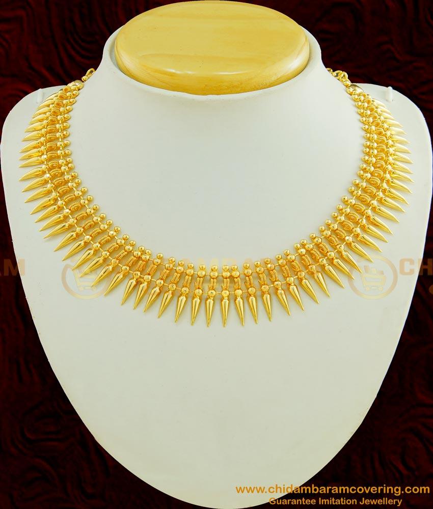 NLC448 - Buy Traditional Kerala Mullamottu Mala Necklace Collections Buy Online