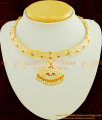 NLC451 - Getti Metal Gold Attigai Design Full Mango Design Impon Attigai Necklace for Wedding