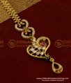 NCT027 - Stylish One Gram Gold CZ Maang Tikka Designs for New Brides