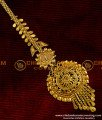 1 gm Gold Plated Traditional Reverse Leaf Design Nethi Chuti / Maang Tikka Buy Online - NCT009