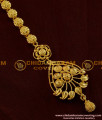 Latest Bridal Wear Gold Plated Design Nethi Chutti / Maang Tikka Flower and Mango Design - NCT011
