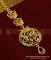 NCT029 - Designer Leaf AD Stone Round Shape Gold Plated Maang Tikka Designs Online