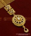 NCT031 - High Quality Zircon Stone Floral Design Maang Tikka Best Price in India