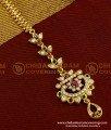 NCT034 - Indian Bridal Designer Chandbali Shape Multi Stone Maang Tikka Designs