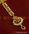 NCT046 - Fashionable White Stone Ruby Stone Fancy Bridal Wear Maang Tikka Design
