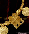 TAL08 - Gold Plated Jewelry Thali Set Shivan Thali Lakshmi Kasu South Indian Mangalsutra Design