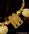 TAL09 - Gold Plated Thali Set Meenakshi Sundareshwar Thali Lakshmi Kasu Mangalsutra Design