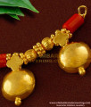 TAL34 - Double Wati With Red Pavla Traditional Mangalsutra For Women Brass Jewellery Online