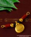 TAL35 - Single Bottu Thali / Pustelu With Red Pavla and Black Crystal Mangalsutra For Women