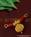 TAL36 - Single Bottu Thali / Pustelu With Red Pavla Traditional Mangalsutra For Women Online