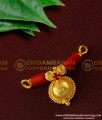 TAL37 - Single Bottu Thali / Pustelu With Red Stone and Red Pavla Mangalsutra For Women Online