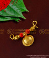 TAL39 - Single Bottu Thali / Pustelu With Red Pavla and Gold Balls Mangalsutra For Women
