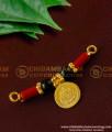 TAL41 - Black Beads and Coral Lakshmi Coin Mangalsutra | Konkani Mangalsutra Design Online