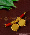 TAL43 - Red Coral with Double Wati and Gold Beads Marathi Mangalsutra Design For Women