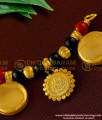 TAL46 - Gold Coated Over Brass 3 wati Lakshmi Coin Coral Mangalsutra For Women