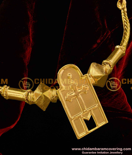 TAL55 - Tamil Cross Thali With Thali Gundu Set Tamil Christian Minnu Pendant at Best Price