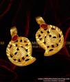 TAL62 – Red Stone Manga Thali Set   916 Gold Plated Thali Mango Design Buy Online