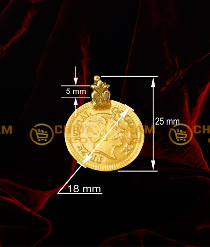 TAL65 - King Head Gold Plated Coins For Christian Mangalsutra | Kerala Christian Thali Design Buy Online