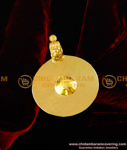 TAL66 - Andhra Plate Bottu Thali Design / Gold Plated Traditional Single Bottu Pustelu Buy Online