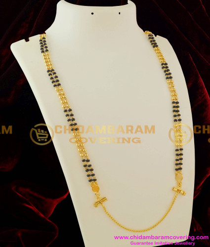 THN13-LG - 30 Inches Long Double Line Mangalsutra karimani Chain with Screw Lock Design