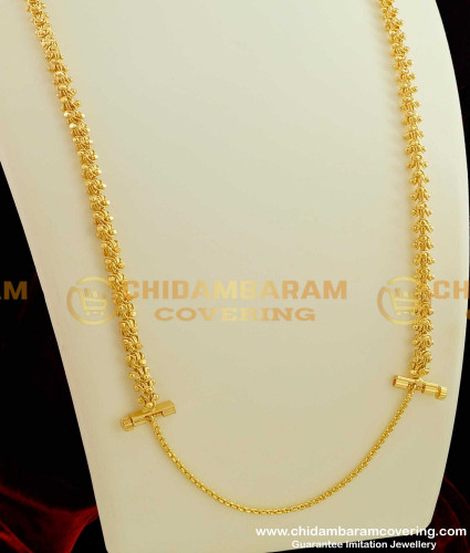 THN18-LG - 30 Inches Long Electroplated Dasavatharam Chain with Screw Lock - Thali Chain For Malaysia Tamilan